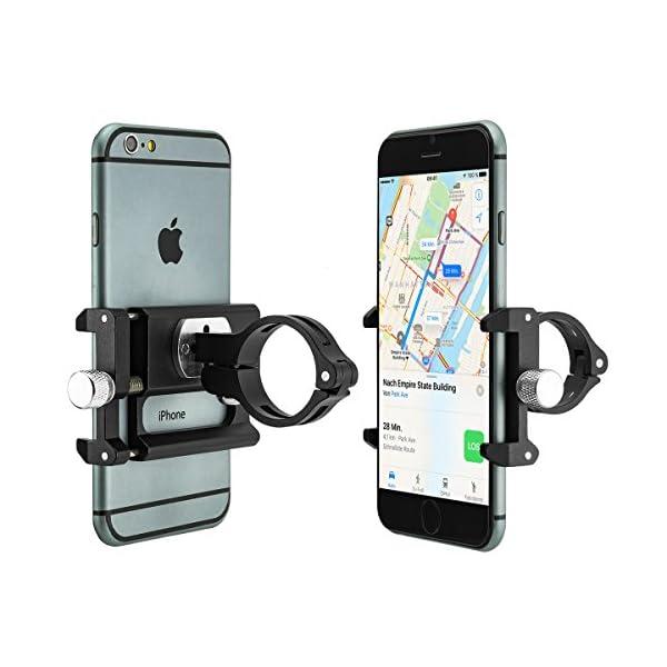 Universal Einstellbar Navi GPS Handy Halterung Fahrrad Motorrad Lenker Schwarz