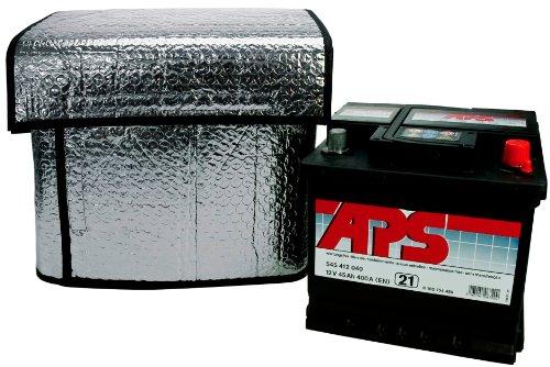 Cartrend 96144 Copertura termica idonea per batteria auto, dimensioni ca. 115 x 74 cm per 32-45 Ah, mantiene in funzione le batterie di avviamento con temperature più basse