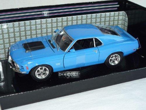 Ford Mustang Boss 429 Blau 1970 Coupe 1/24 Motormax Modellauto Modell Auto