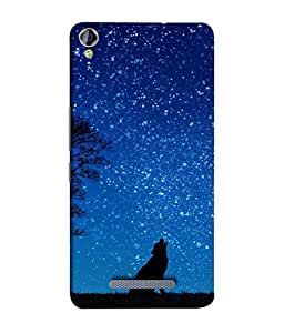 Snapdilla Designer Back Case Cover for Micromax Canvas Juice 3+ Q394 :: Micromax Canvas Juice 3 Plus Q394 (Night Nature Blue Clouds Forest Space)
