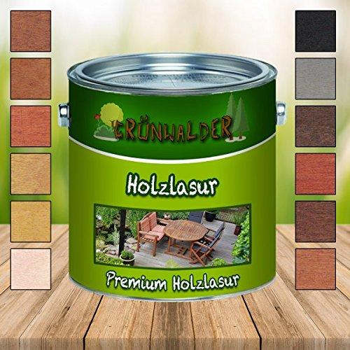 Grünwalder Holz-Lasur premium Terrassen-Ölaromatenfreie Alkydharz-Basis verhindert Verfärbungen des Holzuntergrundes schon nach dem ersten Anstrich