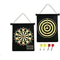 Magnetic Reversible Dartboard & Golf Dart Game 6 Darts Roll Up Easy to Store & Play & Safe Traditional Dart Board