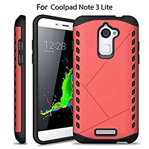 Heartly Hybrid Slim Dual Layer Hard Rugged Shock Proof Tough Armor Bumper Back Case Cover For Coolpad Note 3 Lite ( 5 Inch ) - Cute Pink