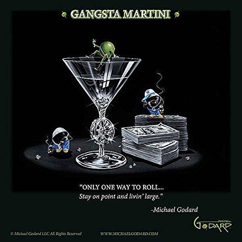 Gangsta Martini Living groß Michael Godard Funny Glücksspiel Cocktail Print Poster 30,5x 30,5 (Artwork Michael Godard)