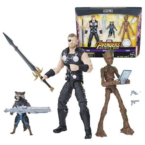 Marvel Legends Avengers Infinity War - Thor, Rocket Raccoon, and Groot 15cm Action Figur - Exklusiv