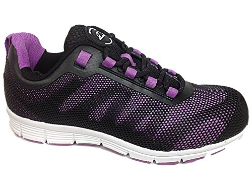 Groundwork , Damen Sicherheits-Sneakers( 8 UK / EU 41, Lilac/Schwarz ) (Schuhe Multi Canvas)