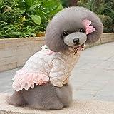Ranphy Small Dog Cat Tutu Dress Dots Parttern Pet Cotton Clothes Pink XXL
