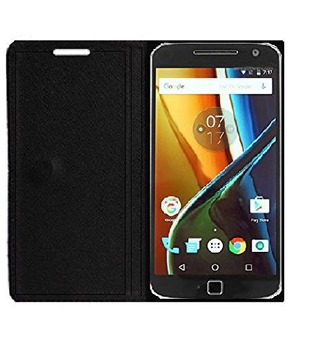 Cell-loid Imported leather type flip cover for Vivo V5 – Black