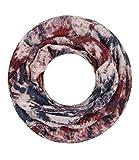 Majea super weicher Damen Loop Schal viele Farben Muster Schlauchschal Halstuch in aktuellen Trendfarben (weinrot 12)