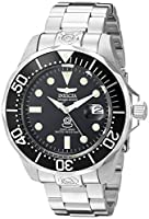 Invicta 3044 Pro Diver Reloj para Hombre acero inoxidable Automático Esfera negro de Invicta