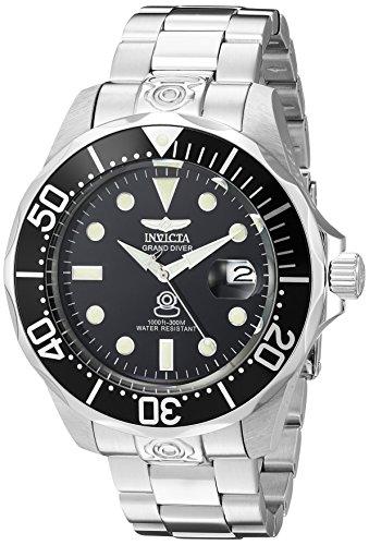 Invicta 3044 Pro Diver Herren Uhr Edelstahl Automatik schwarzen Zifferblat