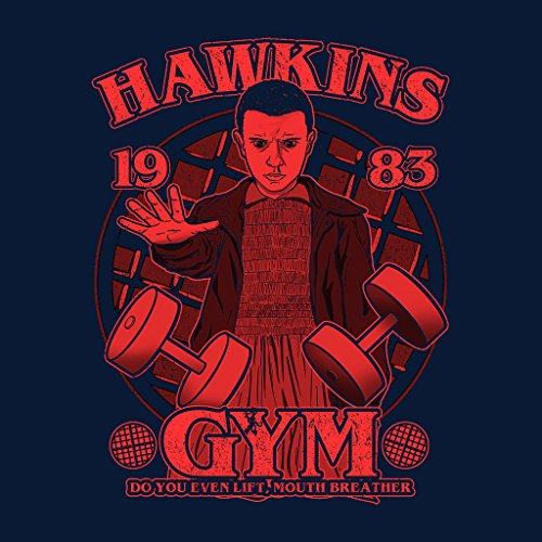 Stranger Things Eleven Hawkins Gym Women's Vest Navy blue