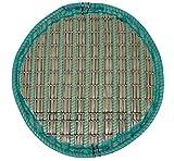 Pflanzinsel Teich, rund, schwimmend, 80cm – schöne Gartenteich-Atmosphäre mit Teichinsel, Pflanzkorb, Pflanzschale – Reduzierung von Algen & Ruhezone für Koi durch Pflanzeninsel