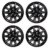 TopTech Revolution 14 Inch Wheel Trim Set Gloss Black Set of 4 Hub Caps Covers