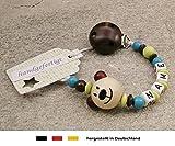 Baby Schnullerkette mit Namen | Schnullerhalter Wunschnamen