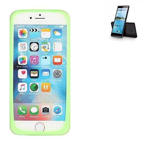 K-S-Trade Für Hisense Sero 5 Silikonbumper/Bumper aus TPU, Grün Schutzrahmen Schutzring Smartphone Case Hülle Schutzhülle für Hisense Sero 5