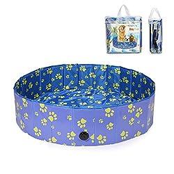 Pro Goleem Faltbarer Hundepool für Hunde, Katzen Swimmingpool Schwimmbecken Planschbecken 120x30cm