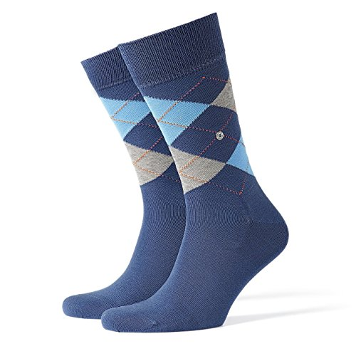 Burlington Herren Socken Manchester 2er Pack, Größe:40-46;Farbe:Blueb. Peel (6220) (2 Socken Pack Fashion)
