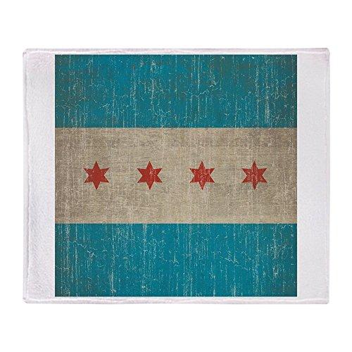 CafePress-Vintage Chicago Flagge-weicher Fleece Überwurf Decke, 127x 152,4cm Stadion Decke Illinois Fleece Throw Blanket