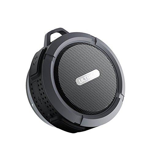 ULTRICS® Altavoces Bluetooth, Inalámbrico portátil al aire libre/ducha altavoz con IPX4impermeable función CE RoHS FCC Certificado Bluetooth 4.0tecnología construido en micrófono manos libres altavoz con ventosa taza 100% garantía de satisfacción