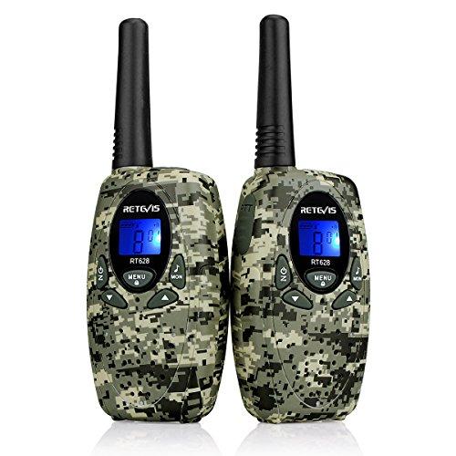 Retevis RT628 Walkie Talkie Bambini PMR446 8 Canali VOX 10 Toni di Suoneria Ricetrasmittenti Bambini Giocattoli per Bambini (Camouflage,1 Coppia)