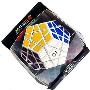 QJ speed megaminx II Puzzle magic Cube Black 12 side puzzle (White)