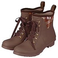 Garden Girl Short neoprene wellies Granny Boots Classic, Brown, 32x32x10 cm