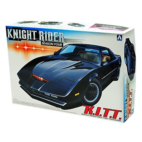 Knight Rider KITT Pontiac Firebird Trans Am Season Four Kit Bausatz 1/24 Aoshima Modell Auto mit individiuellem Wunschkennzeichen