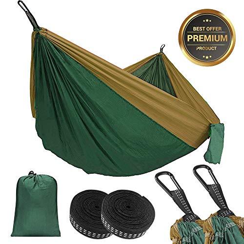 Eastshining Hängematte Outdoor Camping Hängematte für 2 Personen aus Ultraleicht Nylon 300kg Tragfähigkeit für Reisen Strand, 270 * 140cm