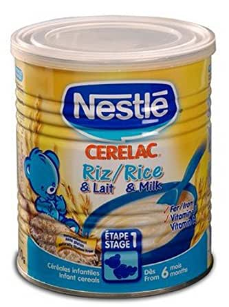 Nestle Cerelac Baby Cereal - Rice with Milk, 400g Tin (Europe)