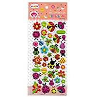 Craftplay Ladybird 3D Stickers (assorted colours) (Sheet Size: 19.5 cm x 9.5 cm)
