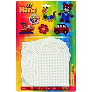 Hama - 4552 - Loisirs Créatifs - Blister 4 Plaques pour Perles à Repasser Midi