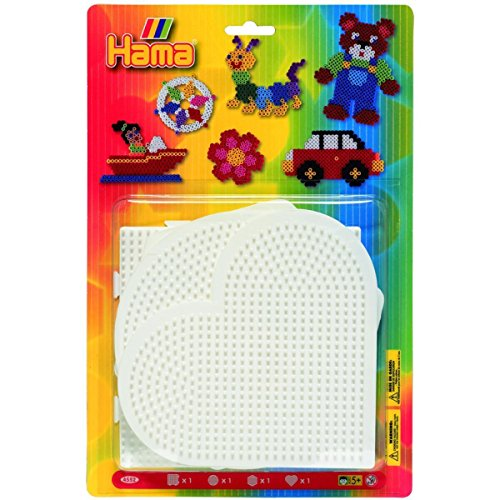 Preisvergleich Produktbild Hama 4552 - Blisterpackung große Stiftplatten, Rund, Herz, Viereck, Sechseck, 4 Stück