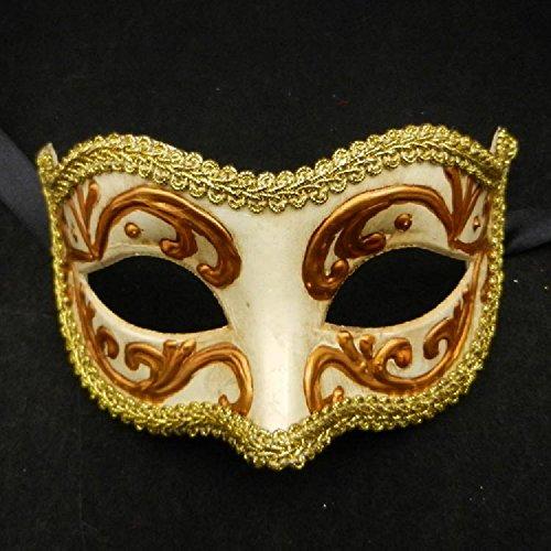 venezianischen Stil Masken für Halloween Masquerade Party Tanz Hochzeit Geburtstag Karneval weiß (Beängstigend Tier Halloween-kostüme)