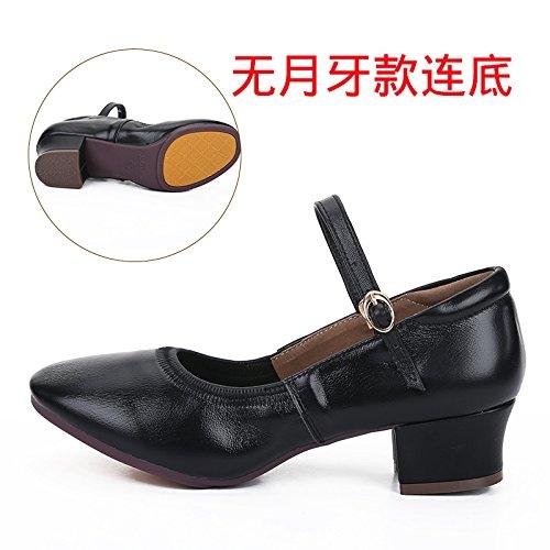 Wuyulunbi @ Chaussures Avec Des Chaussures À Semelles Souples Chaussures De Danse Noires Dansantes