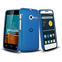 AZUL FUNDA DE GEL SILICONA PARA VODAFONE SMART FIRST 6 / ORANGE RISE 30 / ALCATEL PIXI 3 (4) - Envio por mensajeria URGENTE