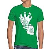 style3 Roy Mustang Alchemist Guanto T-shirt da uomo fullmetal, Dimensione:S;Colore:verde