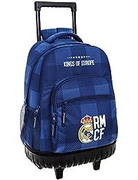 Safta Real Madrid Mochila Escolar, 45 cm, Azul