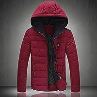 Giacca YCMDM cotone invernale nuovi uomini di cotone Down Jacket tenere al caldo , wine red , m