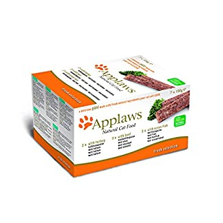 Applaws Complete Cat Food, Pate Tray Multipack, Turkey, Beef & Ocean Fish Selection, 100g (Pack of 7) 14