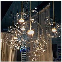 RUOQI Nordique Restaurant Bulle Boule LED Lustre Bar Fenêtre Galerie Salon  Lampe Creative Verre Haricot Magique 04336cd62b8e