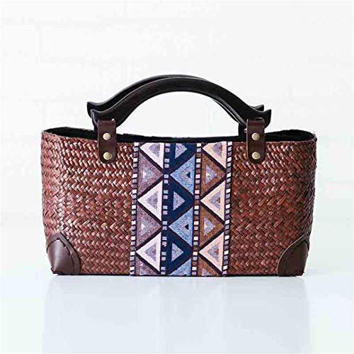 Seaweed Woven Bag Retro Bag Urlaub Strandtasche Handtaschen Handgewebte Tasche Handtasche AM01kafei