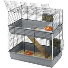 Feplast 57046817 Jaula de Dos Pisos para Conejos Rabbit 100 Double, Accesorios Incluidos, 99