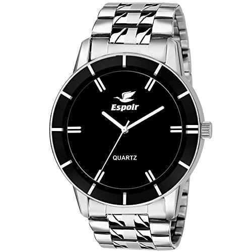 Espoir Analog Black Day and Date Dial Men's Watch BahubaliSam0507