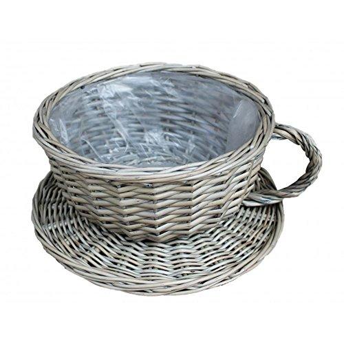 Red Hamper PT146 Rouge Hamper Antique Wash Tea Cup en Osier Panier Marron
