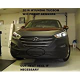 Lebra 2 piece Front End Cover Black - Car Mask Bra - Fits - 2016 Hyundai Tucson - without front sensors by Lebrasinc
