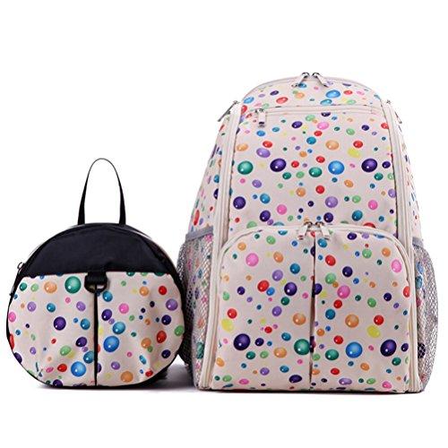 Zhhlaixing 2x Multi-function Mummy Baby Shoulder Sac Diaper Nappy Backpack Changing Handbag Beige