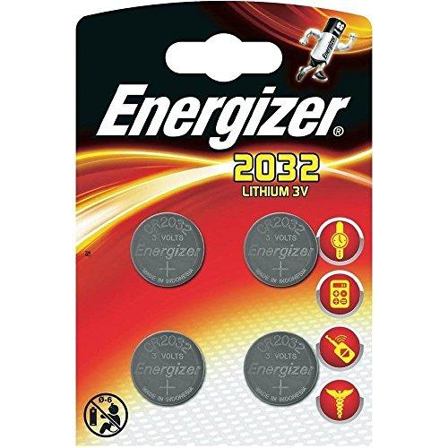 Energizer cr2032 Piles Bouton au Lithium 3 V Batterie - (Lot de 4) Vendu par Generous Relax