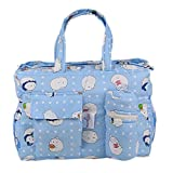 #9: MomToBe Light Blue Printed Baby Diaper/Nappy Changing Bag