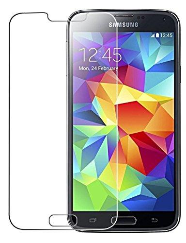 Film de protection Ecran Cophone® pour Samsung Galaxy S5 SM G900 / S5 New en Verre Trempé Premium Anti Chocs et Casse, Anti empreintes digitales et gras, bords arrondis,dureté max 9H, haute définition Glass Screen Protector Vitre Tempered 2,5d